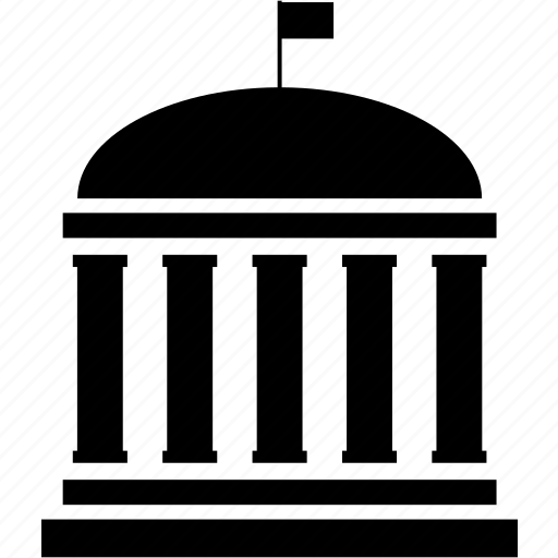 bank, building, capitol building, city, court, courthouse, financial building icon