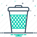 basket, can, container, garbage, junk, trash, waste icon