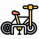bicycle, facility, parking, public, rack icon
