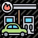 car, engine, filling, fuel, station icon