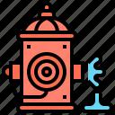 hydrant, extinguish, emergency, fire, utility icon