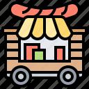 cart, food, market, stall, street icon