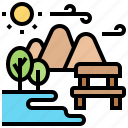 environment, natural, outdoor, park, relaxing icon
