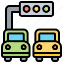 intersection, junction, light, signal, traffic icon