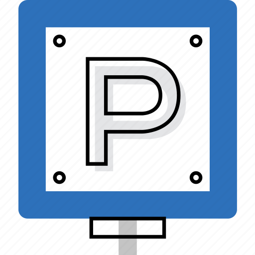 icon, parking, place, pointer, sign, signpost, symbol icon