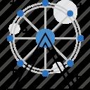 activity, amusement, fair, ferris, leisure, park, wheel icon