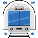 city, metro, public, subway, train, transport, underground icon