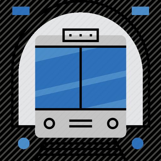 city, metro, public, subway, train, transport, underground icon