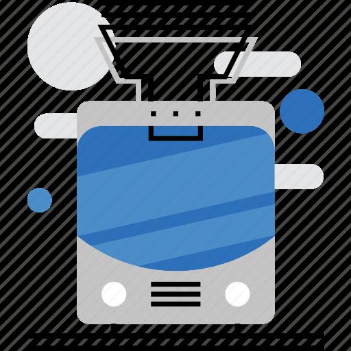 city, municipal, public, tramway, transport, transportation, urban icon