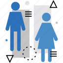 female, male, man, restroom, toilet, wc, woman icon