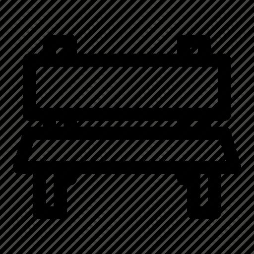 chair, city, garden, park icon