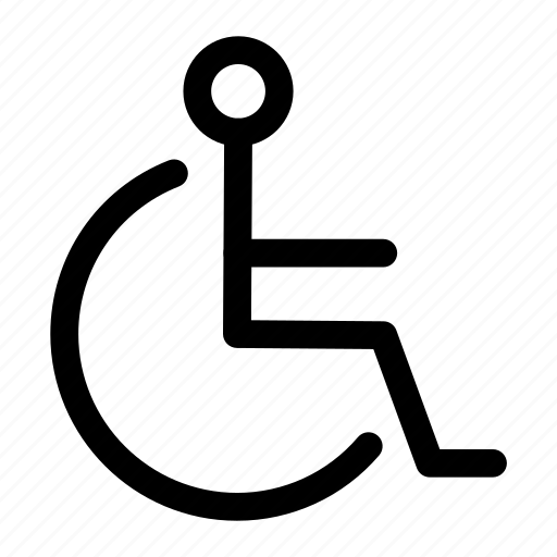 city, disability, sign icon