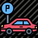 car, parking, sign, transport, vehicle, auto
