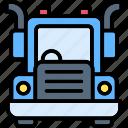 heavy, truck, vehicle, transport, construction