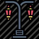city, lamp, lantern, light, street, road