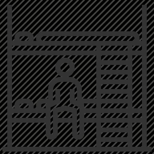 hostel, hotel, room, service icon