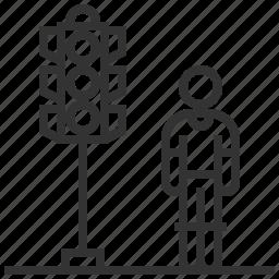 light, road, sign, traffic, transportation icon