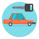 auto, automobile, car, key, rental icon