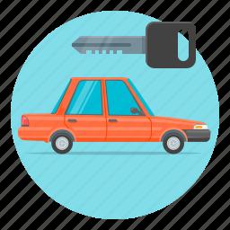 auto, automobile, car, key, rental icon