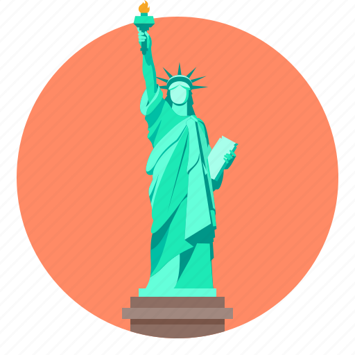 liberty, monument, statue, statue of liberty icon