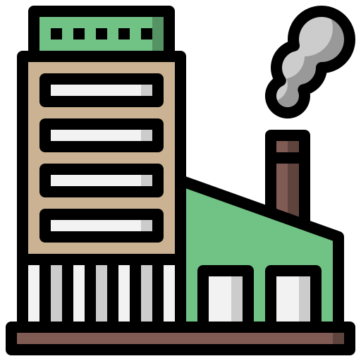 and, architecture, contamination, factory, industrial, industry, pollution icon
