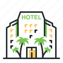 hotel, inn, service, traveling icon
