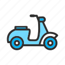 bike, transport, transportation, vespa icon