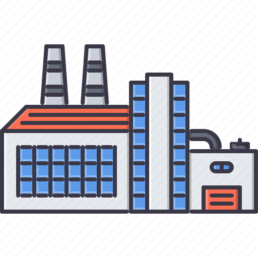 architecture, building, factory, pipe, production icon