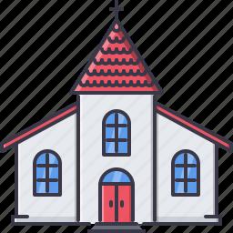 architecture, building, chapel, church, cross, god, religion icon