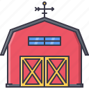 architecture, barn, building, stable, vane icon