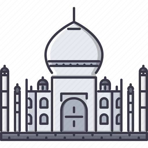architecture, building, india, mahal, sight, taj icon