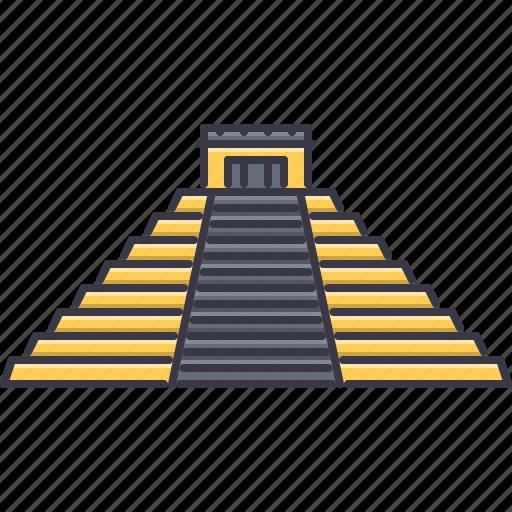 architecture, building, mayan, pyramid, sight icon