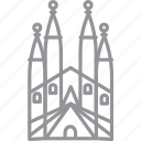 barcelona, building, city, journey, line, vacation icon