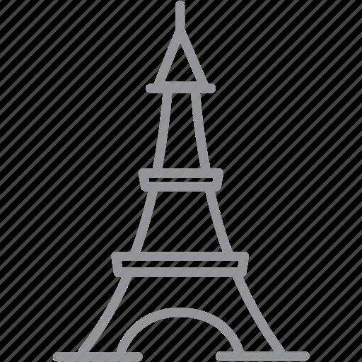 building, city, journey, line, paris, vacation icon