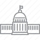 building, city, journey, line, vacation, washington icon