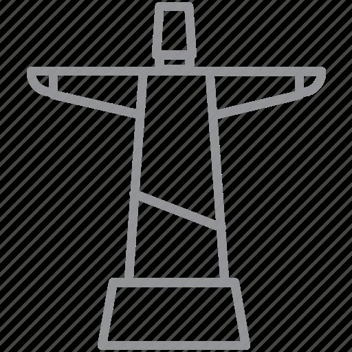 building, city, journey, line, rio, vacation icon