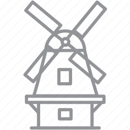 amsterdam, building, city, journey, line, vacation icon