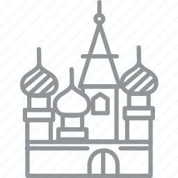 building, city, journey, line, moscow, vacation icon