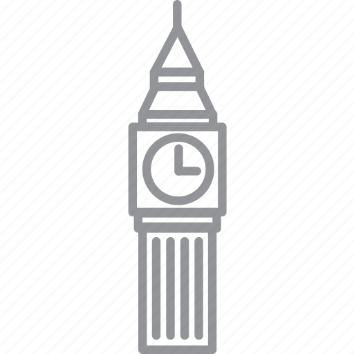 building, city, journey, line, london, vacation icon