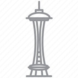 building, city, journey, line, seattle, vacation icon