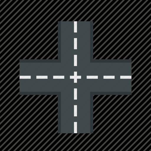 crossing, crossroad, direction, road, street, traffic, way icon