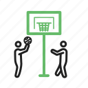 activity, basketball, game, hoop, kids, player, sport