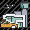airplane, airport, taxi, terminal, travel, trip, uber icon