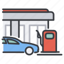 car, fuel, gas, gasoline, oil, station icon