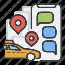auto, car, order, taxi, trip, uber icon