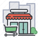 city, commerce, market, shop, shopping, store icon
