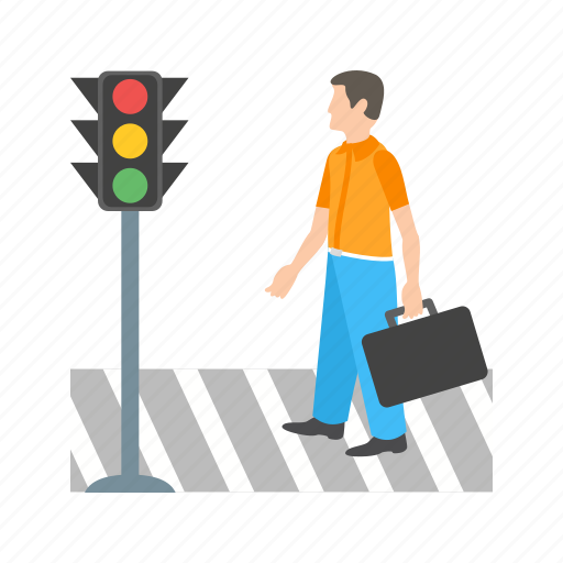 busy, city, crossing, pedestrian, people, road, street icon