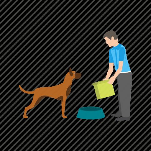 bird, care, dog, eating, feeding, person, pet icon