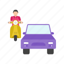car, city, highway, jam, rush, street, traffic icon