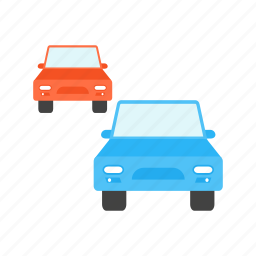 automobile, cars, city, highway, road, traffic, travel icon